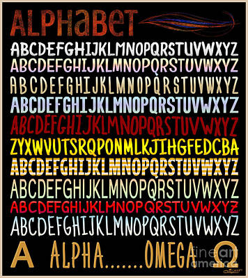 Digital Art - Alphabet by Jutta Maria Pusl
