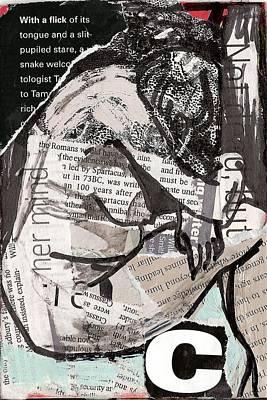 Alphabet Nude C Art Print by Joanne Claxton
