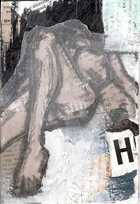 Painting - Alphabet Nude H by Joanne Claxton