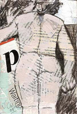 Painting - alphabet nude P by Joanne Claxton