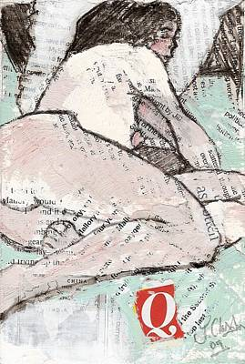 Painting - Alphabet Nude Q by Joanne Claxton