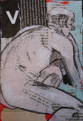 Painting - Alphabet Nude V by Joanne Claxton