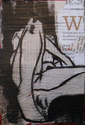 Painting - Alphabet Nude W by Joanne Claxton