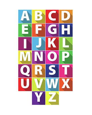 Alphabet Art Print by Samuel Whitton