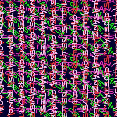Pop Art - 12 COLORS ALPHABET soup abstract art by Navin Joshi