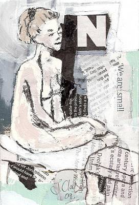 Painting - Alphbet Nude N by Joanne Claxton