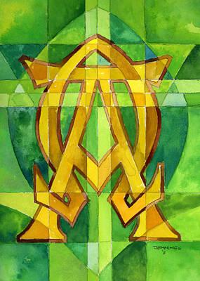 Alphqa And Omega Art Print by Mark Jennings