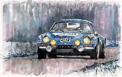 Alpine A 110 Print by Yuriy  Shevchuk