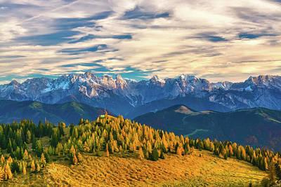 Photograph - Alpine Autumn Scene by Laci Dome
