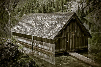 Alpine Boat Hut Art Print
