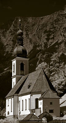 Photograph - Alpine Church by Frank Tschakert