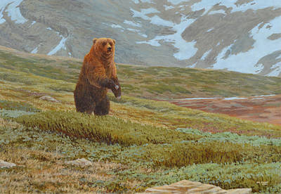Depression Painting - Alpine Encounter by Jim Young