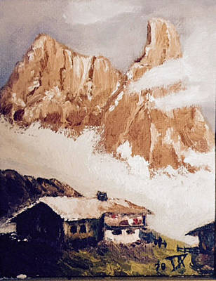 Painting - Alpine Home  by Donald Paczynski