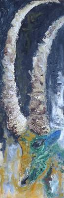 Wall Art - Painting - Alpine Ibex by Tessa Lang