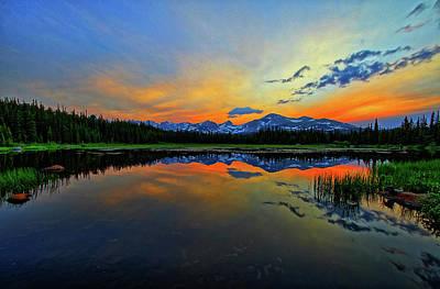 Art Print featuring the photograph Alpine Lake Glow by Scott Mahon