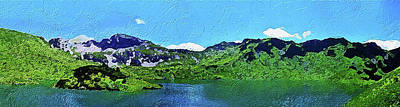 Painting - Alpine Lake by PixBreak Art