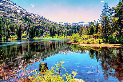 Photograph - Alpine Lake Reflections by Maria Coulson