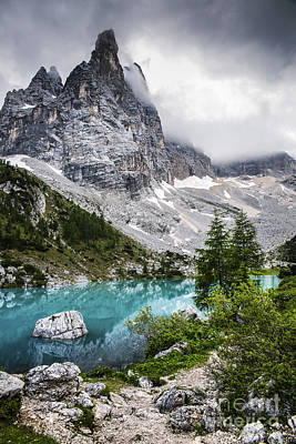 Mountain Royalty-Free and Rights-Managed Images - Alpine lake by Yuri San