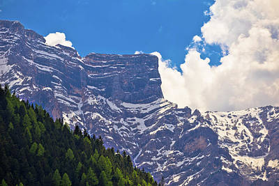 Photograph - Alpine Landscape Layers In Dolomite Alps View by Brch Photography