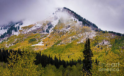 Print featuring the photograph Alpine Loop Autumn Storm - Wasatch Mountains  by Gary Whitton