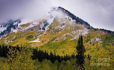 Alpine Loop Autumn Storm - Wasatch Mountains  Art Print by Gary Whitton
