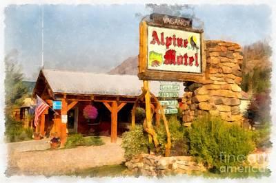 Photograph - Alpine Motel Vintage Roadside Oasis Yellowstone by Edward Fielding