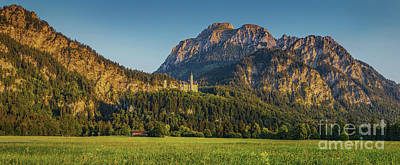 Photograph - Alpine Mountain Landscape With Famous Neuschwanstein Castleat Su by JR Photography