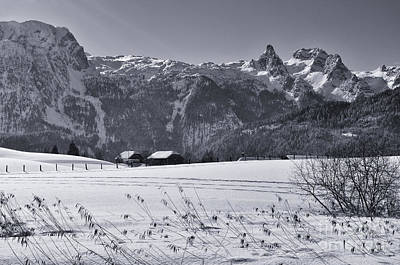 Photograph - Alpine Mountain Range In Black And White by Sabine Jacobs