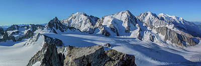 Tour Du Mont Blanc Wall Art - Photograph - Alpine Panorama - Mont Blanc Massif by Chris Warham