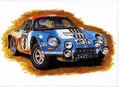 Alpine Renault A110 Jean-pierre Nicolas 1973 Art Print by Ugo Capeto