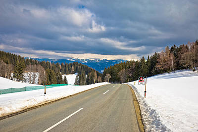 Photograph - Alpine Road Near Klippitztorl Peak In Alps  by Brch Photography