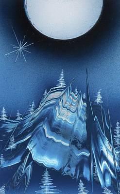 Painting - Alpine Ski Area by Jason Girard
