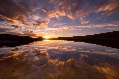 Alpine Sunset Print by Darren White