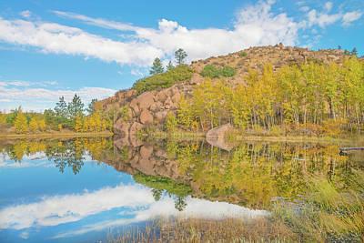 Photograph - Alpine Vale Reflection  by Bijan Pirnia