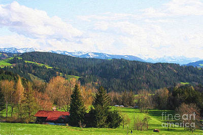 Photograph - Alpine View by Jutta Maria Pusl