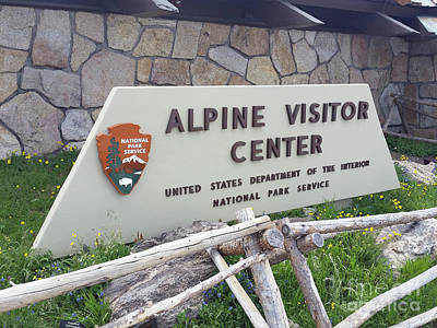 Photograph - Alpine Visitor Center by Tony Baca