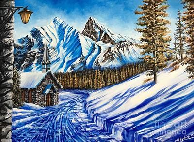 Painting - Alpine Walk by Art By Three Sarah Rebekah Rachel White