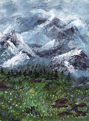 Painting - Alps by Donna Blackhall