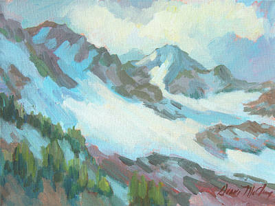 Art Print featuring the painting Alps In Switzerland by Diane McClary