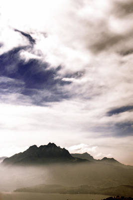 Photograph - Alps In The Fog by Lali Kacharava