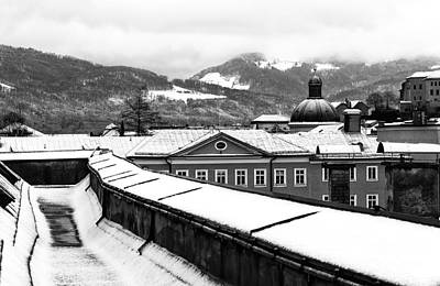 Photograph - Alps View From Salzburg Mono by John Rizzuto