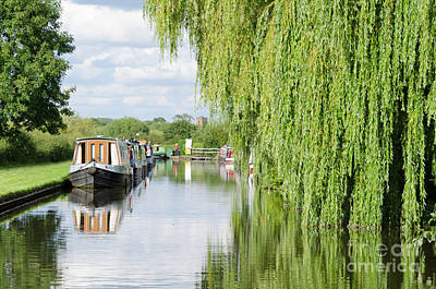 Photograph - Alrewas Canal Scene by Steev Stamford