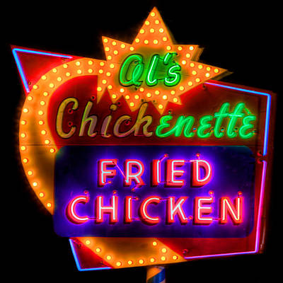 Old Signs Photograph - Al's Chickenette by Thomas Zimmerman