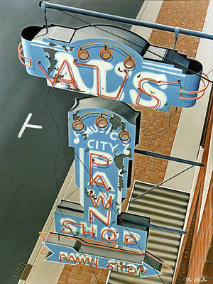 Sign Painting - Al's  by Van Cordle