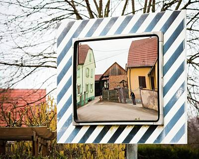 Photograph - Alsace Street Corner Mirror by Tatiana Travelways