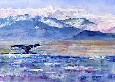 Painting - Alaskan Landscape On Water by John D Benson