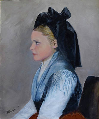 Ellis Island Painting - Alsatian Woman On Ellis Island by Sandra Nardone