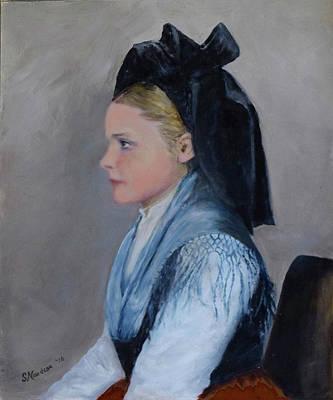 Painting - Alsatian Woman On Ellis Island by Sandra Nardone