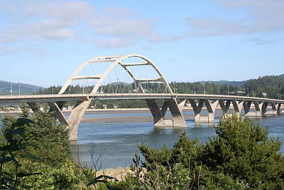 Alsea Bridge Br 7002 Art Print by Mary Gaines