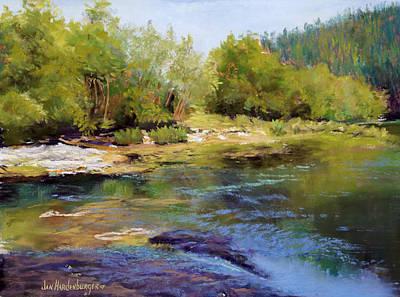 Painting - Alsea River by Jan Hardenburger